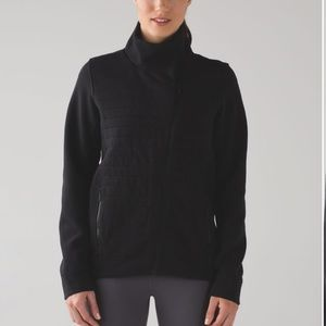 Lululemon fleece be true black zip jacket 2